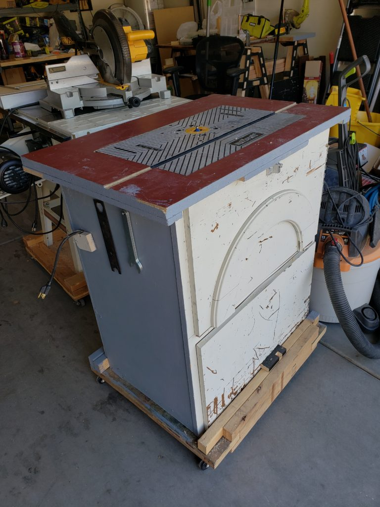 Old router cabinet