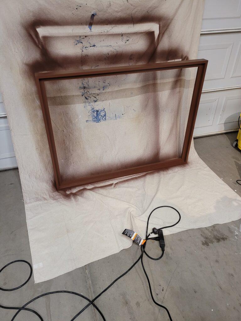 Spraying the frame